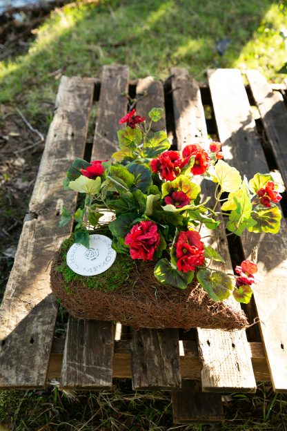 Heart grave arrangement