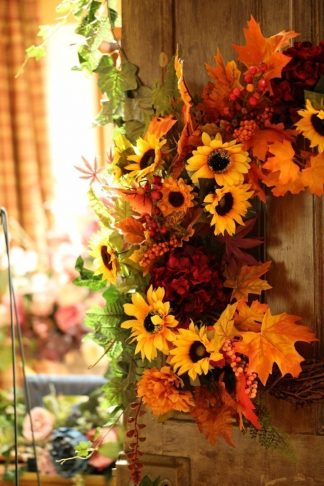 Autumnal Mix of flowers and foliage