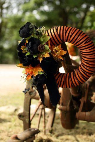 Striped Velvet Wrap Halloween