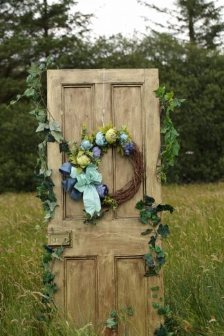 Cyan - Florals /Bow